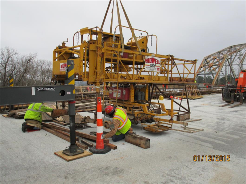 Getting the screed back together for the SB bridge.