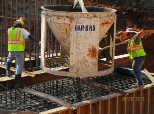 Emptying the bucket