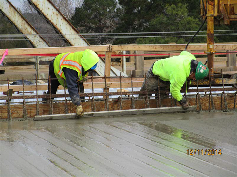 Working the gutter line