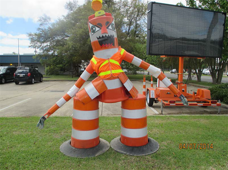 Last week was Work Zone Safety week at District 08. Now I know where all my missing barrels went!