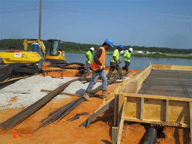 Placing rebar steel for KCS approach slab