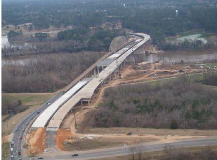 Northbound bridge is complete.