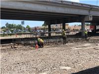 Preparing rebar for new footing May 2020