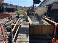New footing being poured May 2020