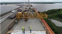 I-210 eastbound bridge deck pour.