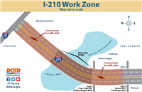The project begins at mile marker 0.5 east of the I-10 Jct. to mile marker 3.8 near Exit 4 for Nelson Rd./L'Auberge Blvd.
