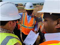Secretary Dr. Shawn Wilson (center) project visit, October 2019