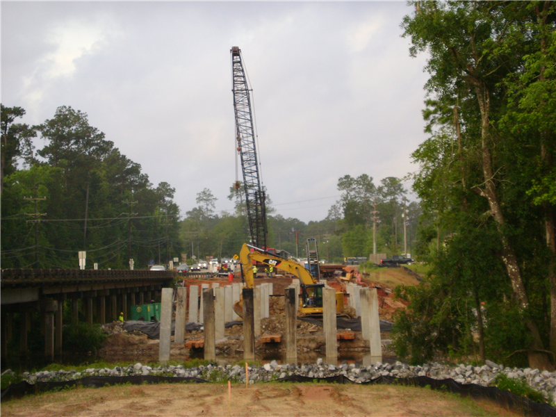 Pile Driving continues at the La. 21 Widening project in Covington/St. Tammany Parish. This is the only bridge operation we currently have going on