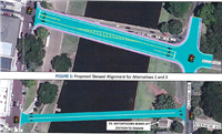 Figure 1: Proposed skewed alignment for Alternative 1