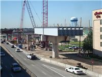 Overhead steel girders above South Causeway OCT. 2010