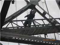 Painting the bridge girders