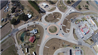This is the Scott roundabout, which opened to traffic in January 2014.