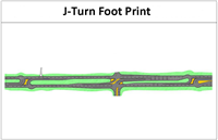 J-turn footprint
