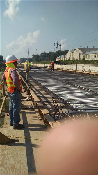 DOTD inspects Steel being installed on the new Bridges being installed over Baker Canal.