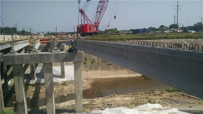 New girders spanning Baker Canal