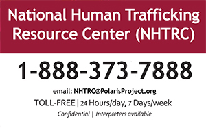 Human Trafficking Resource Center Hotline